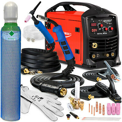 3 In 1 Welder Welding Machine MIG TIG MMA Gasless 200A Portable Inverter SET • 563£