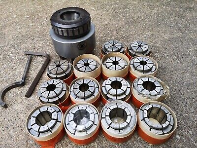 Crawford Plastraulic Collet Chuck And Multibore Collets • 350£