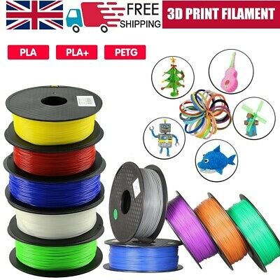 3D Printer Filament PLA PLA+ PETG Printing 1.75mm 1KG Various Colours Available • 14.99£
