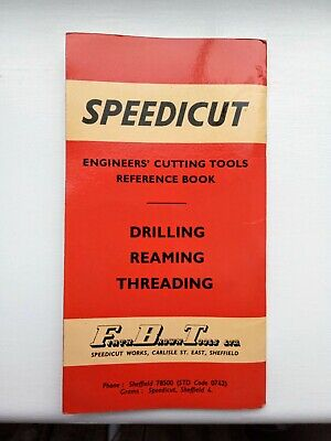 SPEEDICUT  Drilling Reaming Threading  Reference Book 234 • 6£