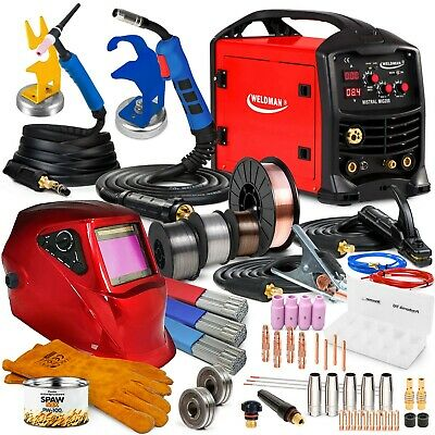 3 In 1 Welder Welding Machine MIG TIG MMA Flux 200 A Portable Inverter TIG Torch • 599£