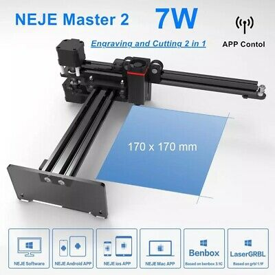 NEJE Master 7W Engraver Wireless CNC For Engraving Work Suit For Mac IOS • 165.95£