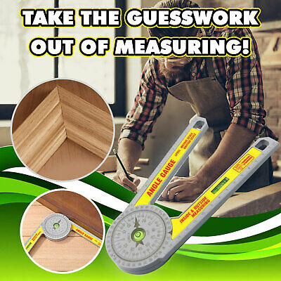 Angle Finder Miter Saw Protractor Measuring Ruler Tool Goniometer Pro Durable  • 7.69£