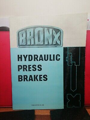 Bronx Hydraulic Press Brakes Information Catalogue Brochure • 10£