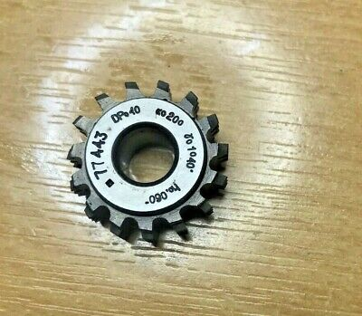 Genuine Mikron Gear Cutting Hob DP40 PA20 Bore 8mm, Excellent Condition • 25£