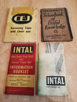 4 Vintage Engineering Books In Ok Condition For Age • 3£