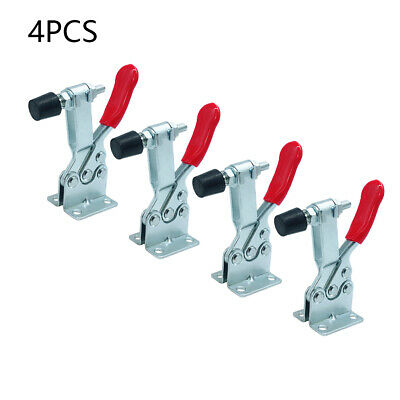 4X GH-201B Toggle Clamp Quick Release Hand Tool Holding Capacity 90Kg 0.5cm Hole • 13.92£