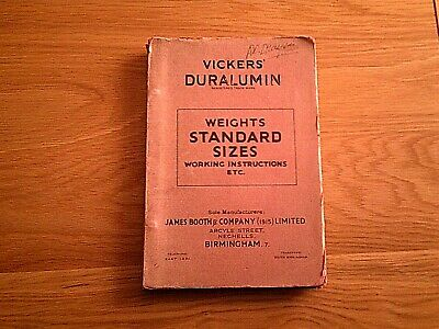 Vickers Duralumin Working Instructions • 7.99£