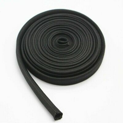 1pc*Woven Sleeve Protector 2M Black For Spark Plug Wire Extend Wire Life • 8.74£
