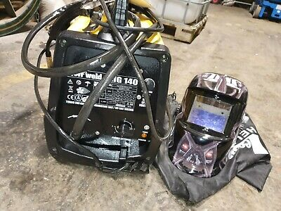WOLF MIG 140X Welder Gas & No Gas Brand New Coil Brand New Electric Mask • 73£