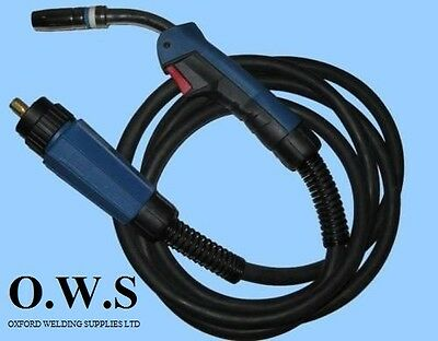 MB25 4M 4Meter BINZEL TYPE MB25 Euro Mig Welding Torch Lance For Gas / Gasless • 45£