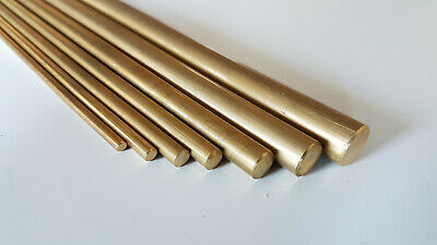 Brass Bar Rod Round Solid Modelmaking Diameter 3.2 To 12mm Various Lengths • 7.20£