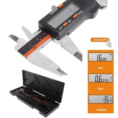 Electronic Caliper Digital Inch/Metric/Fractions 0-6 Inch 150 Mm Stainless Steel • 15.32£