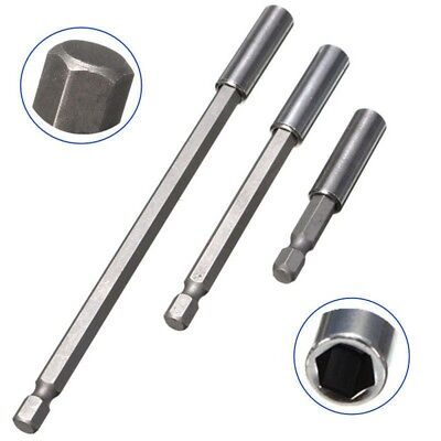 Quick Magnetic Screwdriver Set 3x Three-slot Holder Drill Bit Extension 1/4 Hex • 2.95£