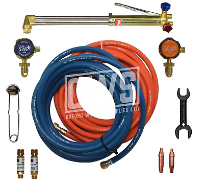 COMPLETE GAS WELDING & CUTTING KIT For Propane / Oxygen • 120£