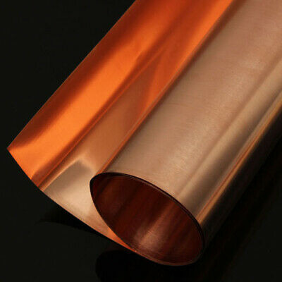 New 99.9% Pure Copper Sheet Plate Options 0.1mm,0.2mm,0.5mm Thick 100,1000mm • 10.52£