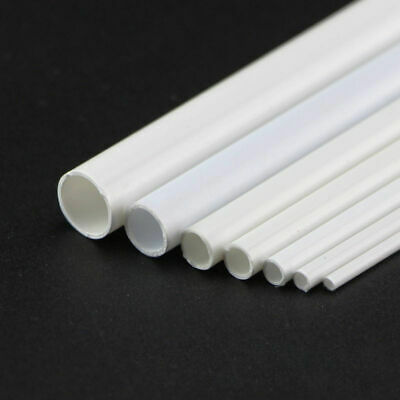 ABS Plastic Tube White Round Hollow Pipe DIY Model Crafts 250mm X 3/4/5/6/8/10mm • 3.56£
