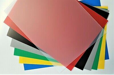 Plastic Sheet Polypropylene Coloured ViPrint Graphic Arts 0.8mm Thick A5 To A2 • 10.99£