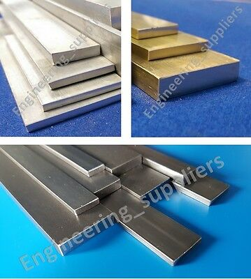 Metal Flat Bar Plate Aluminium, Brass & Mild Steel, Various Sizes, 50mm To 600mm • 24£