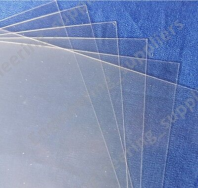 Acetate Plastic Sheet Thin Clear 0.1mm, A6 A5 & A4 - Single, 5 Or 10 Pack • 2.25£