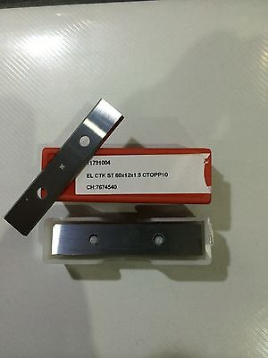 Woodworking Solid TCT Reversable Knives 60 X 12 X 1.5, Rebate Block • 18£