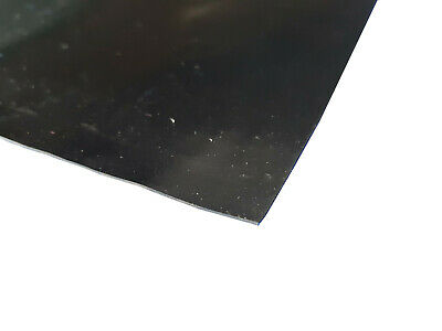 0.8mm Thick Black Smooth Neoprene Anti-Slip Rubber Sheet Mat Upto 1m Square • 29.99£