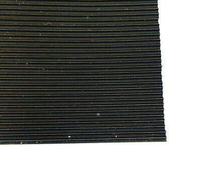 3mm Thick Black Fine Ribbed Ridged Grooved Rubber Mat Lining Sheet Pad A2 A1 A0 • 49.99£