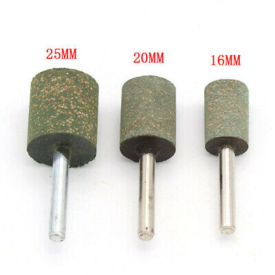 16/20/25mm Cylinder Abrasive Rubber Polishing Burr Mounted Point 6mm Shank Drill • 1.98£