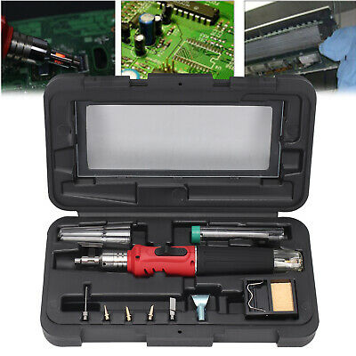 Soldering Iron Kit Professional Gas Butane Auto Ignition Torch With Plastic Case • 23.59£