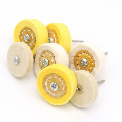 2'' 50mm Wool Felt Cotton Cloth Buffing Polishing Wheel Mop 3mm Shank For Dremel • 1.93£