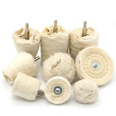 40-100mm Cotton Polishing Wheel Buffing Mop Pads 1/4'' Shank Drill Metal Jewelry • 2.88£