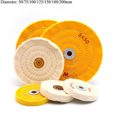 2'' - 7'' Cotton Buffing Polishing Wheel Pad 50mm-200mm For Angle Bench Grinder • 6.53£