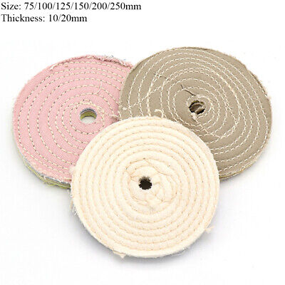 75-250mm Stitch Cotton Cloth Buffing Polishing Wheel Disc Pads For Bench Grinder • 7.48£