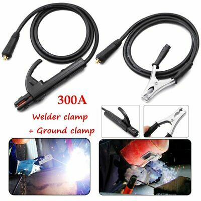 300A Ground Earth Clamp Stick Welder Cable For MMA ARC Welding Inverter Machine • 19.99£