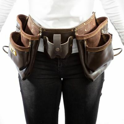 Tool Apron Tool Holder Pockets In Oiled Leather 11 Pockets (xtrade High Quality) • 44.71£