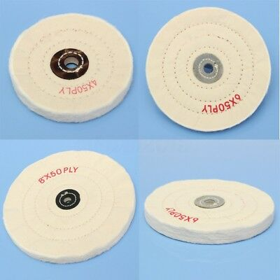 4'' 6'' 8'' White Cloth Buffing Polishing Wheel Arbor Buffer Grinder Polish Pad • 6.66£