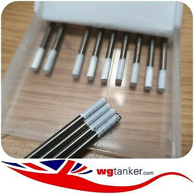 2.4mm X 150mm TUNGSTEN White Tipped Zirconiated 0.8% WZ08 AC Welding Electrode • 3.50£