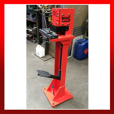 EX DEMO WNS Hand Sheet Metal Foot Operated Treadle Corner Notcher / Angle Cutter • 900£