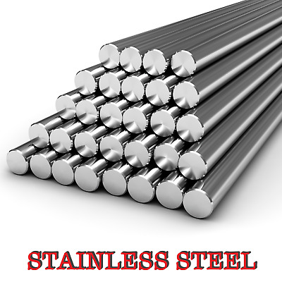 STAINLESS STEEL Round Bar Steel Solid Rod GRADE 304 Various Size - 1 Meter LONG  • 18.99£