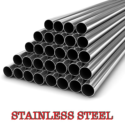Stainless Steel Round Tube  Pipe -VARIOUS SIZES- 304 GRADE - 1 METER LONG  • 14.99£
