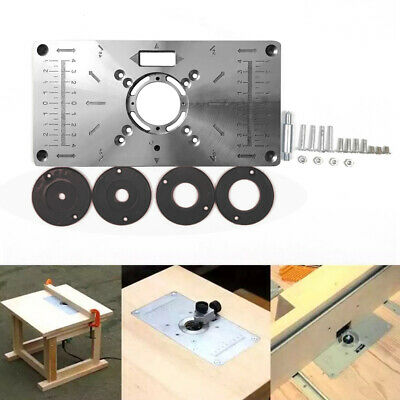 UK Router Table Insert Plate Woodworking Benches Wood Router With 4 Rings Tools • 13.95£