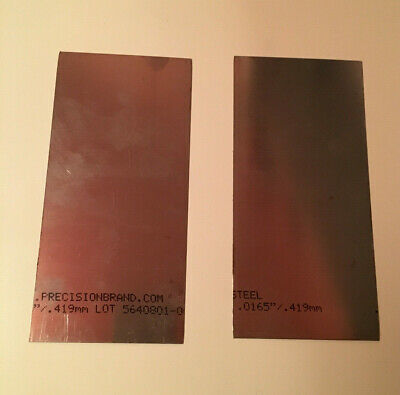 Steel Shim Plate 0.0165  135mm X 65mm Engineering/Garage/Astronomy QTY 2 • 4.99£