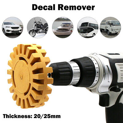 4 Inch Pneumatic Rubber Remover Wheel Car Decal And Sticker Removal Eraser Wheel • 6.19£