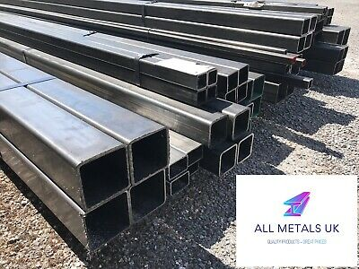 MILD STEEL BOX SECTION SHS - Huge Range Of Sizes From 20mm X 20mm To 90mm X 90mm • 13.88£