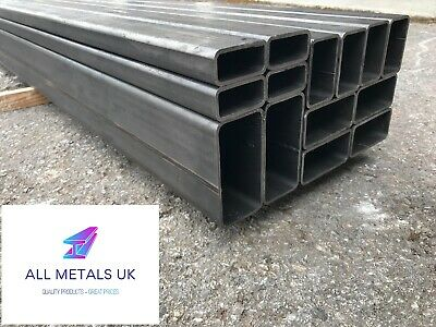 MILD STEEL BOX SECTION (METAL RECTANGULAR BOX SECTION) - 50mmx25mm-120mmx60mm • 10.99£