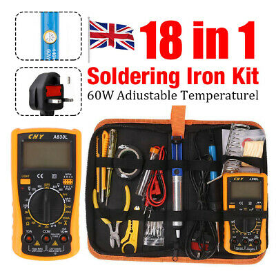 18-in-1 Soldering Iron Kit Electronic Welding Irons Repair Tool 60W Portable    • 19.69£