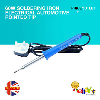 60W Soldering Iron Electrical Automotive Pointed Tip UK Plug D38 • 5.99£