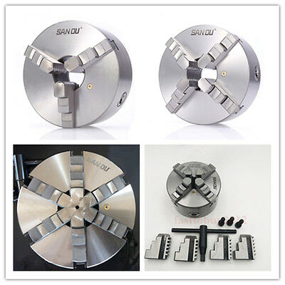 100mm 4  Lathe Chuck 3 Jaw 4Jaw 6Jaw Self-Centering Independent For CNC Lathe • 109£