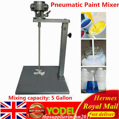5 Gallon Pneumatic Paint Mixer Tool Mixing Machine 1/4HP 20L W/Stand UK • 110.46£