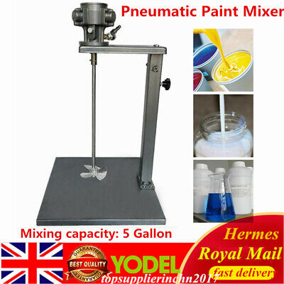 5 Gallon Pneumatic Paint Mixer Tool Mixing Machine 1/4HP 20L W/Stand UK • 96.65£